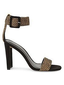 BCBGeneration Winoni Cheetah Calf Hair Heeled Sand