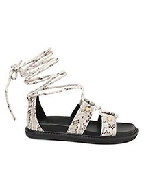 BCBGeneration Millie Faux Leather Sandals IVORY SN
