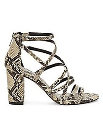 Jessica Simpson Stassey Block Heel Sandals NEUTRAL