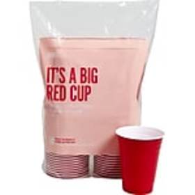 Perk™ Plastic Cold Cup, 16 Oz., Red, 50/Pack (PK54