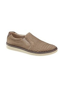 Johnston & Murphy Mcguffey Woven Nubuck Slip-On Sn