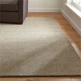 Crate Barrel Quinn Taupe Wool Rug 9'x12'
