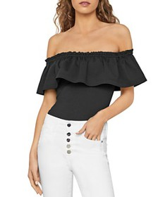 BCBGMAXAZRIA - Off-The-Shoulder Ruffled Bodysuit