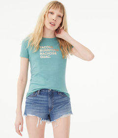 Aeropostale Free State Foil Tacos Graphic Tee