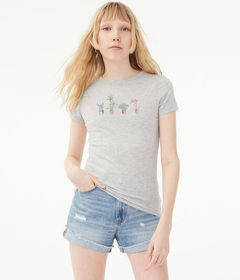 Aeropostale Free State Pots Of Plants Graphic Tee