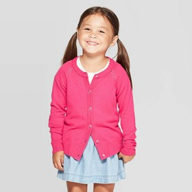 Toddler Girls' Long Sleeve Cardigan - Cat &