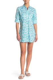 Tommy Bahama Boyfriend Cover-Up Shirt Dress