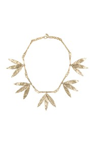 Valentino Hammered Leaves Necklace