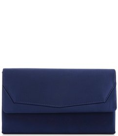 Kate Landry Core Satin Frame Clutch with Flap