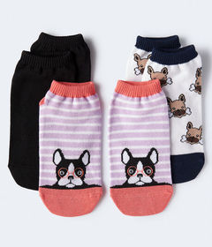 Aeropostale Striped Frenchie Ankle Sock 3-Pack