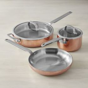 Williams Sonoma Professional Copper 5-Piece Cookwa