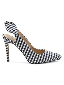 BCBGeneration Heneya Gingham Pumps NAVY WHITE