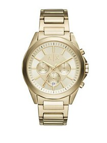 Armani Exchange Drex Stainless Steel Gold Dial Chr