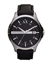 Armani Exchange Mens Hampton 3 Hand Watch BLACK