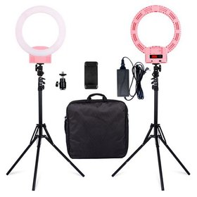 """Dimmable LED Ring Light, 12"""" Circle Lighting, Beau"""