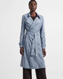 Oaklane Trench Coat in Suede