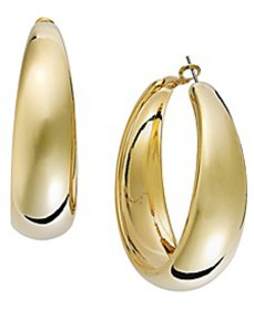 "Thalia Gold-Tone Large 2"" Hoop Earrings"
