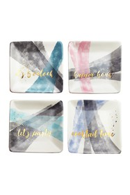 Jay Import Multi Soiree Square Plate - Set of 4