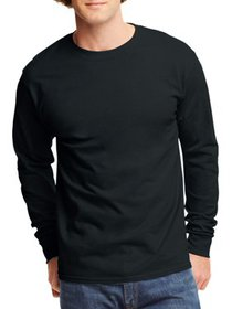 Hanes Men's and Big Men's Tagless Long Sleeve Tee,
