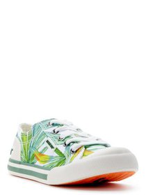 Rocket Dog Womens Jazzin Leaf Print Cotton Lace-up