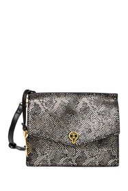 Fossil Stevie Snake-Embossed Small Leather Crossbo