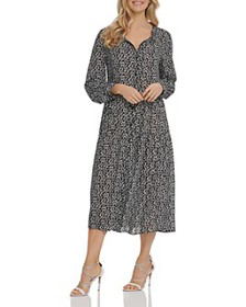 DKNY - Printed Ruched Shirtdress