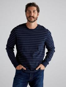 Lucky Brand Stripe Thermal Crew