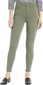 7 For All Mankind High-Waist Ankle Skinny in Solid