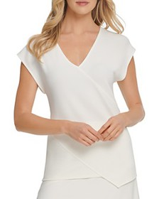 DKNY - V-Neck Cap-Sleeve Top
