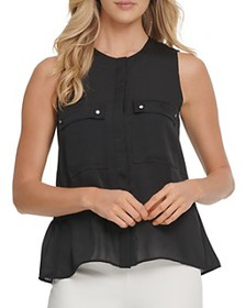 DKNY - Sleeveless Front-Pocket Top