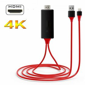 Compatible with iPhone iPad to HDMI Adapter Cable,