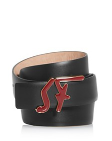 Salvatore Ferragamo - Men's Leather Logo Belt