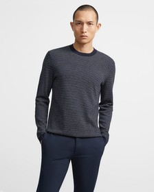 Crewneck Sweater in Striped Merino Wool