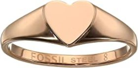 Fossil Be Mine Stainless Steel Signet Ring