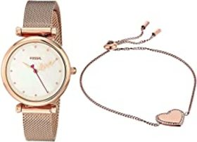 Fossil Carlie Mini Three-Hand Stainless Steel Watc