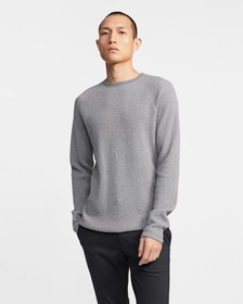 Crewneck Sweater in Waffle Knit Organic Cotton