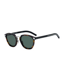 Dior Men's Round Havana Acetate/Metal Sunglasses
