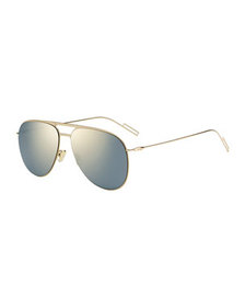 Dior Men's Mirrored Metal Aviator Sunglasses