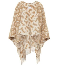 Burberry TB wool-blend jacquard shawl