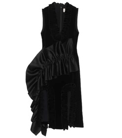 Christopher Kane Ruffle-trimmed velvet dress