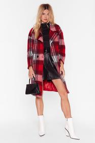 Nasty Gal Red Sorry Just in a Brushed Oversized Ch