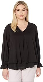 MICHAEL Michael Kors Plus Size Long Sleeve Bell In
