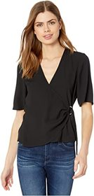 BCBGeneration D-Ring Wrap Front Top - TPT1263716