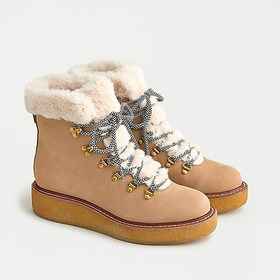 J. Crew Nubuck winter boots with wedge crepe sole