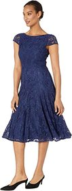 Vince Camuto Lace Midi with Cap Sleeve