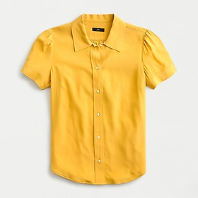 J. Crew Short sleeve shirt in Re-Imagined Silk