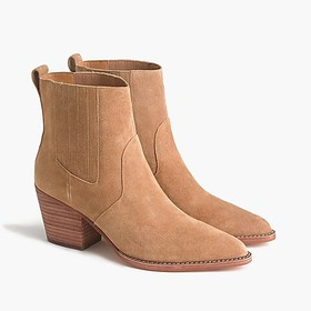 J. Crew Western boots in tan suede