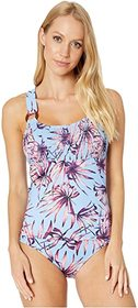 Jessica Simpson Palmy Days O-Ring Tankini Top