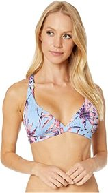 Jessica Simpson Palmy Days X-Back Triangle Bra Top