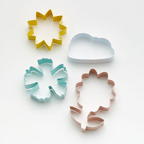 Crate Barrel Spring Metal Cookie Cutters, Set of 4